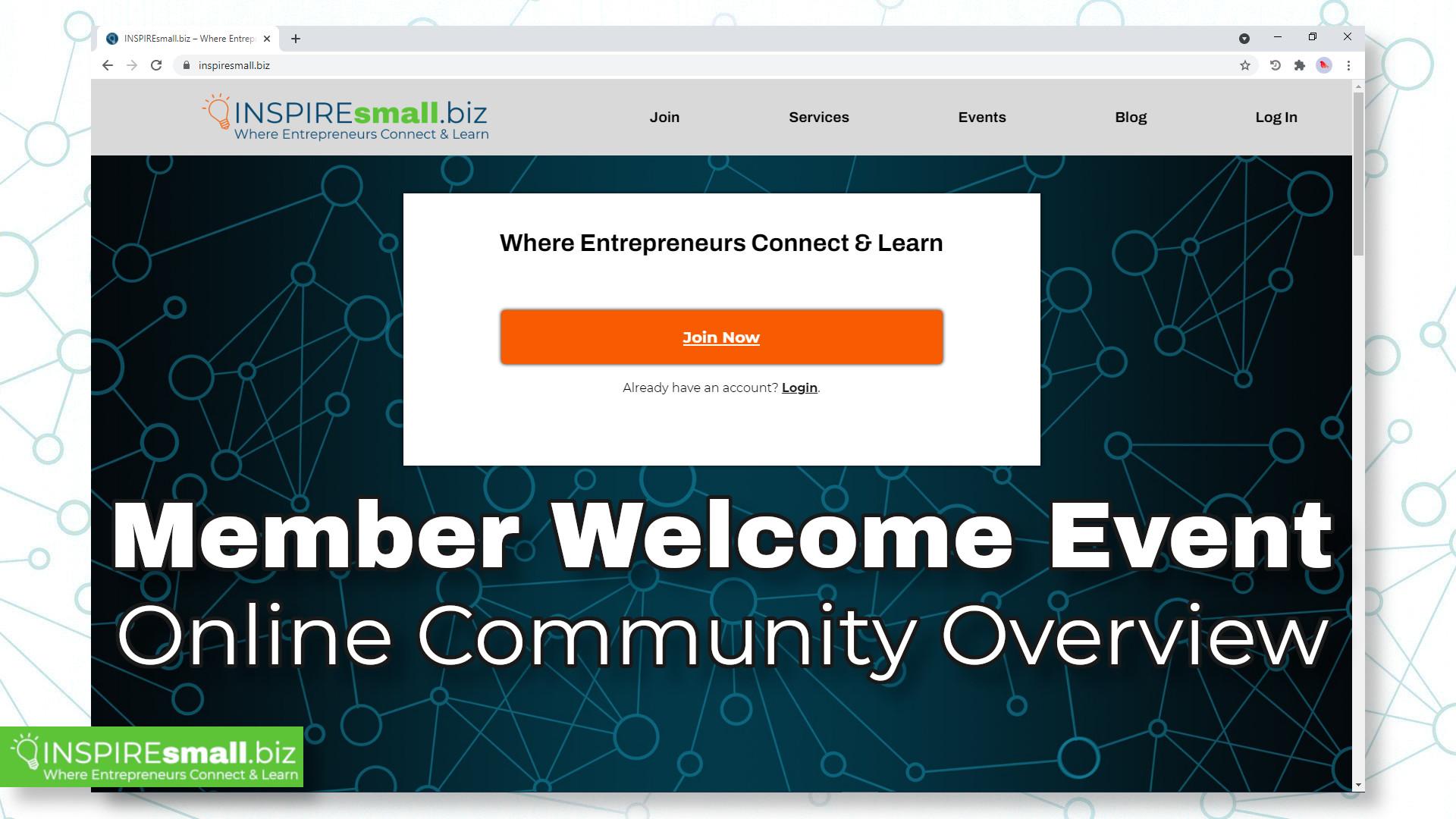 INSPIREsmall.biz Online Community Launch Event